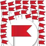 30 Stück Markierungsfahnen - ROT - Markierungsfähnchen...