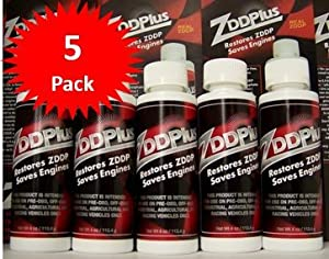 ZDDPPlus ZDDP Engine Oil Additive Zinc & Phosphorus 5 Bottle Pkg