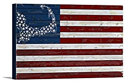 Cape Cod, Massachusetts - Flag (36x24 Gallery Wrapped Stretched Canvas)