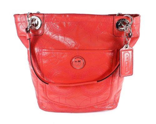 Coach Alex Signature Stitch Patent Leather Tote Handbag