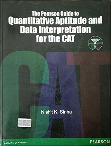The Pearson Guide To Quantitative Aptitude And Data Interpretation For The CAT price comparison at Flipkart, Amazon, Crossword, Uread, Bookadda, Landmark, Homeshop18