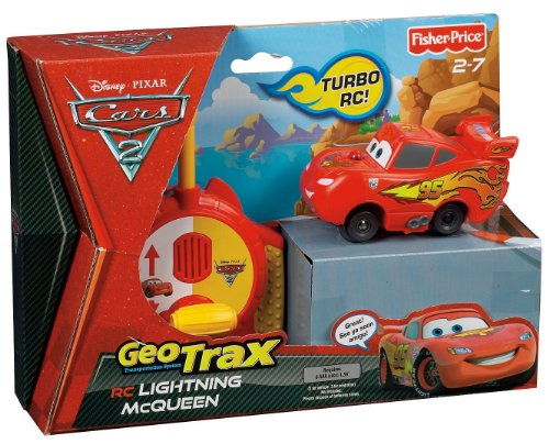 Geotrax Disney Cars  Remote Control Lightning Mcqueen