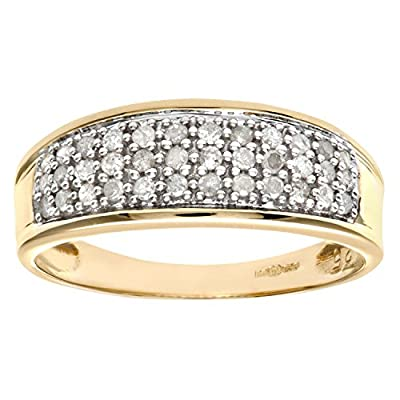 Ariel 9ct Yellow Gold Diamond Multi Row Eternity Ring