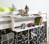 Cabin Bed Double Shelf Multi Purpose shelf ideal for Midsleepers WHITEWASH