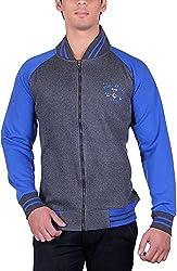 RGT Men's Fleece Regular Fit Sweatshirts (RGT6012GREYROYAL-XL)