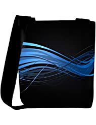 Snoogg Abstract Blue Design Designer Womens Carry Around Cross Body Tote Handbag Sling Bags