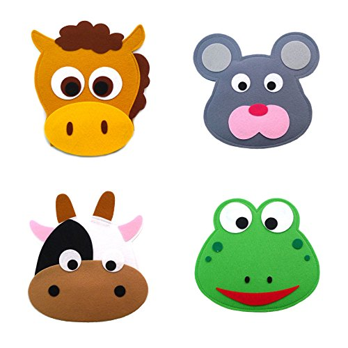 Animal Headband masks horse+mouse+cow+frog