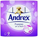 Andrex Puppies Roll Toilet Tissue, 9...