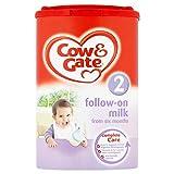 Cow & Gate 2 la leche de continuación de Seis Meses 900g (paquete de 6 x 900g)