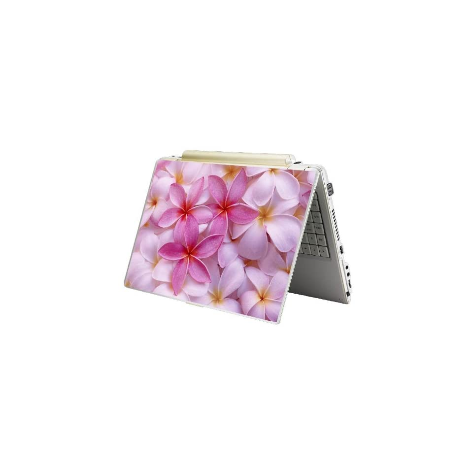 Bundle Monster MINI NETBOOK Laptop Notebook Skin Sticker Cover Art Decal   7 8 9 10   Fit HP Dell Asus Acer Eee Compaq MSI   Pink Plumeria