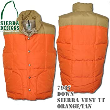 Down Sierra Vest TT 7987: Down Sierra Vest TT 7987: Orange / Tan