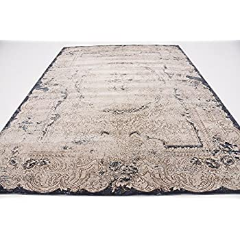 Texture Modern Carved Vintage Traditional Look & Feel Cream 8' x 10' Ephesus Collection Area Rug