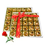 Enjoyable Chocolate Box With Red Rose - Chocholik Luxury Chocolates