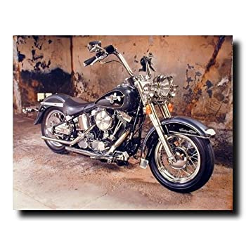 Vintage Harley Davidson Black Motorcycle Wall Decor Art Print Poster (16x20)