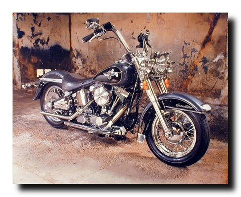 Vintage Harley Davidson Black Motorcycle Wall Decor Art Print Poster (16x20) 0