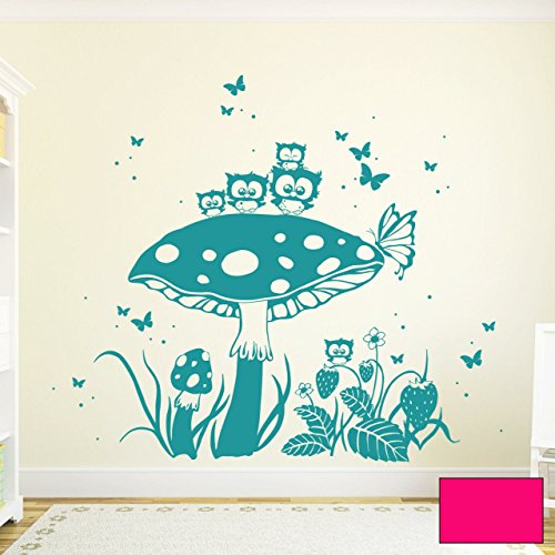 graz-design-adhesivo-decorativo-para-pared-buhos-sobre-seta-con-mariposas-y-lunares-m1572-determinad