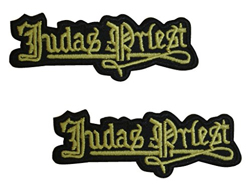 2 pcs JUDAS PRIEST Iron On Patch Fabric Applique Motif Rock Band Punk Metal Decal 3 x 1.1 inches (7.5 x 2.8 cm) (Priest Ii compare prices)
