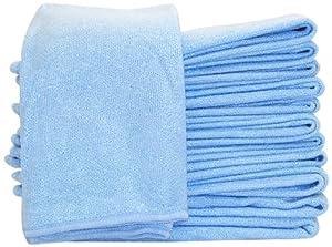 DeRoyal MFS16300-12 Microfiber Glass Towel, 12-Piece