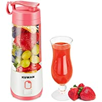 Kuwan Mini Rechargeable Electric Fruit Juicer with USB Charging Cable