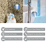 Miomix Portable Wireless Bluetooth 3.0 Shower Speaker Waterproof Speaker with Suction Cup for Bathroom, Boat or Outdoor by the Pool Built in Passive Riadator & Micophone for Handsfree Calls(Blue)
