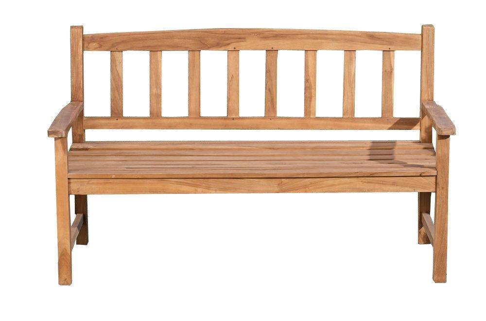 CLP wetterfeste Gartenbank AUCLAND aus massivem Teakholz (aus bis zu 5 Größen wählen) 220×50 cm jetzt bestellen