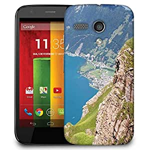 Snoogg Mountain View From The Top Designer Protective Phone Back Case Cover For Motorola G / Moto G
