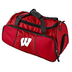Buy Brand New Wisconsin Badgers NCAA Athletic Duffel Bag by Things for You