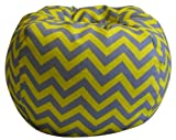 Newco Kids Chevron Bean Bag, Gray and Yellow