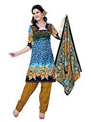 BAPUJI PRINT - WOMEN'S COTTON UNSTITCH DRESS MATERIALS - MASTANI-107
