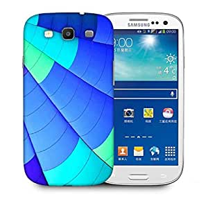 Snoogg Blue Parachute Designer Protective Phone Back Case Cover For Samsung Galaxy S3