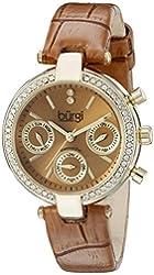 Burgi Women's BUR129TN Analog Display Swiss Quartz Brown Watch