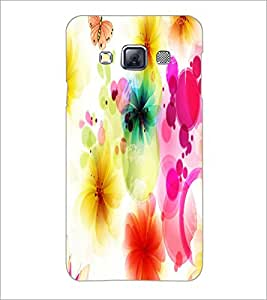 PrintDhaba Floral Pattern D-1107 Back Case Cover for SAMSUNG GALAXY A3 (Multi-Coloured)