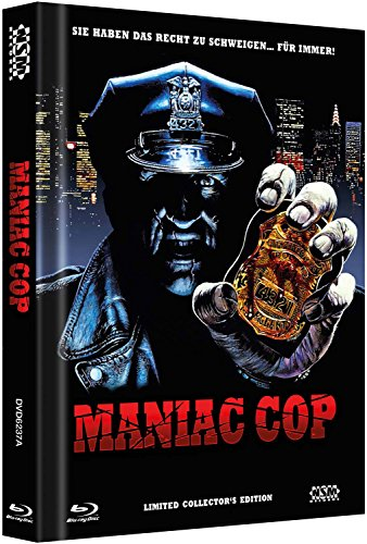 Maniac Cop - uncut [Blu-Ray+2DVD] auf 999 limitiertes Mediabook Cover A [Limited Edition]