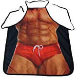 Myhome MuscleNerd Kitchen Sexy Apron Funny Creative Cooking Aprons for Men Boyfriend Gifts