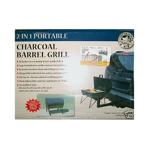 Amazon.com : 2 in 1 Portable Charcoal Barrel Grill for Tabletop or