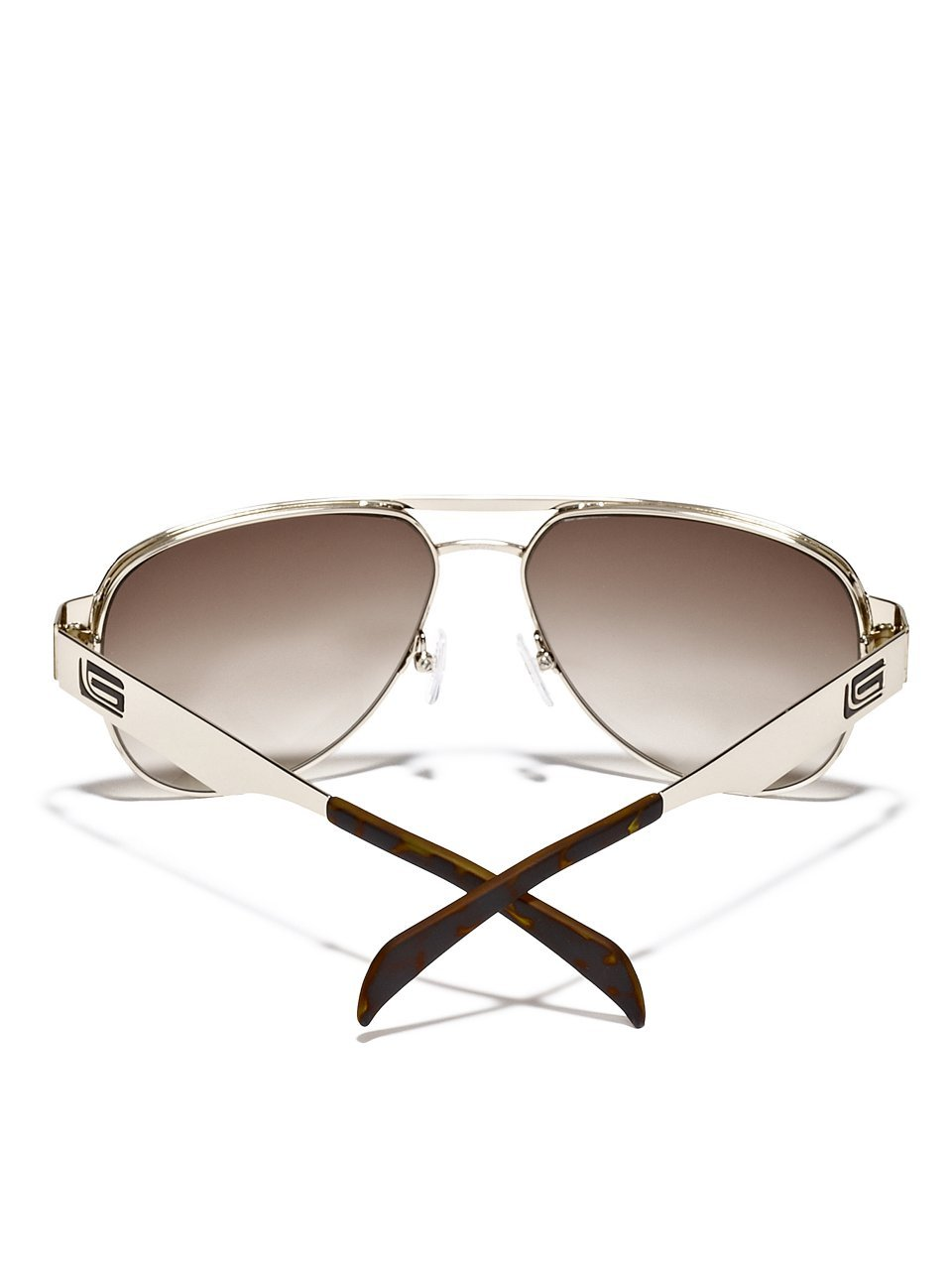 GUESS Men's Metal Aviator Sunglasses
