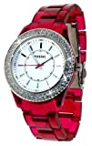 Fossil Stella Pink Glitz Topring Watch