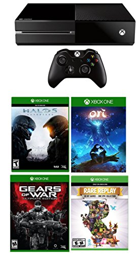 Xbox-One-1TB-Console-1-Wireless-Controller-4-Games-BundlesGears-of-War-Ultimate-Edition-Rare-Replay-Ori-and-the-Blind-Forest-Halo-5-Guardians