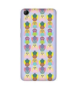 Stripes And Elephant Print-22 HTC Desire 728 Case