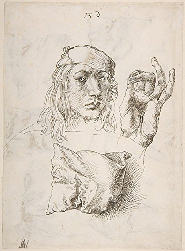 Self-Portrait, Study Of A Hand And A Pillow (Recto); Six Studies Of Pillows (Verso) Poster Print By Albrecht Dürer (18 X 24)