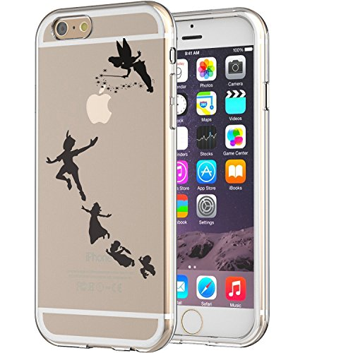 Peter Pan Latest Clear Soft TPU Apple Iphone 6/6s Case Never Grow Old Pan Tinker Bell Design (Peter Pan Iphone Case compare prices)
