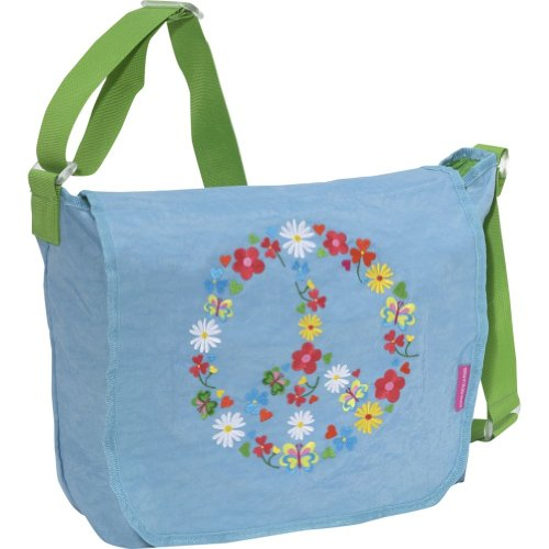 Miquelrius Agatha Ruiz de la Prada Peace & Love Blue Messenger Bag