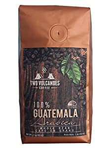 Two Volcanoes Whole Bean Coffee - Delicious Flavor From Organic Coffee Beans. Great for Espresso. Single-Origin, Exclusive Medium Roast From San Marcos, Guatemala. Cultivated, Processed & Packed in Origin to Guarantee Freshness & Best Possible Flavor. 16