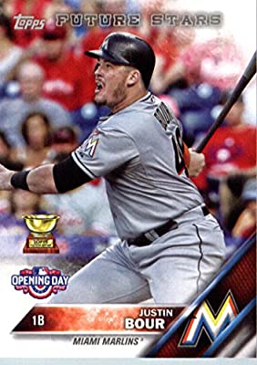 2016 Topps Opening Day #OD-181 Justin Bour Miami Marlins Baseball Card
