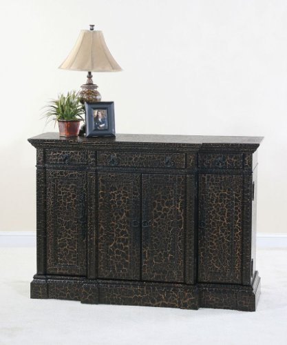 Buy Low Price Ultimate Accents Cottage Black Crackle Sideboard By Ultimate  Accents U2013 Dark Wood (