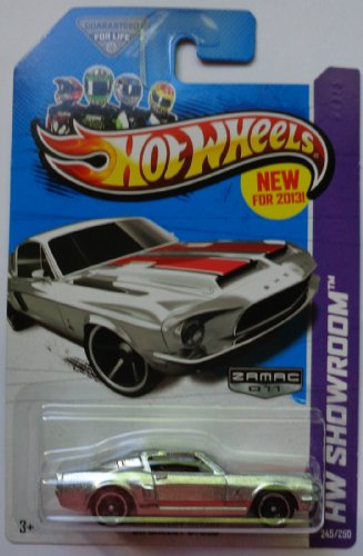 Hw Showroom 68 Shelby Gt500 #245/250 Silver Zamac 011 by Mattel