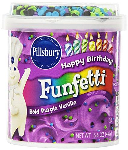 Pillsbury Vanilla Frosting, Funfetti Bold Purple, 15.6 Ounce (Pack of 8) (Funfetti Icing compare prices)