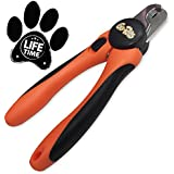 Pet Nail Clippers for Dogs & Cats by GoPets ✮76% OFF This Week ONLY Summer Sale✮Trimmer Includes FREE File✮ Best For Large Medium or Small Breed-Safely Trim Claws w/Quick Guard-Lifetime Guarantee