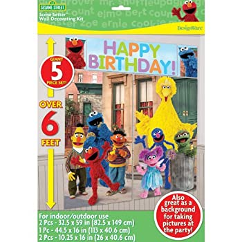 Sesame Street Scene Setter is a giant 5pc set that is over 6 feet is great for indoor/outdoor use. A