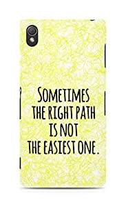 AMEZ the right path is not easy Back Cover For Sony Xperia Z3
